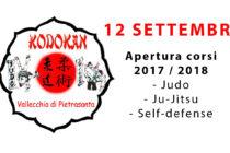 Apertura stagione 2017/2018 e nuovo corso di autodifesa